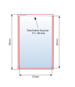 Buzunar adeziv 57 x 90 mm