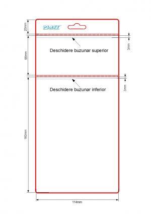 Husa etichete 2 buzunare 115 X 55+160 mm