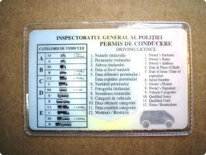 Coperta permis auto